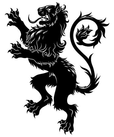 Heraldic lion Фото со стока - 74689091