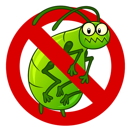 aphid: Anti aphid sign vector Illustration