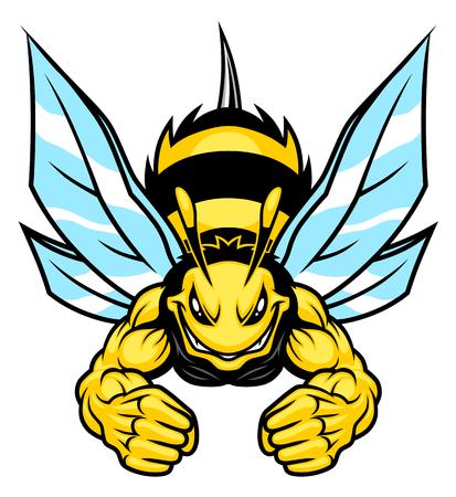 Mocna maskotka z pszczołą