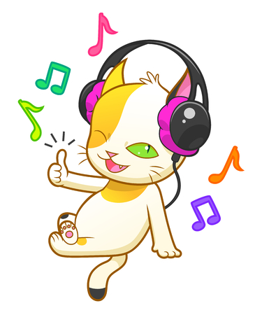 calico: Weird kitten listen music