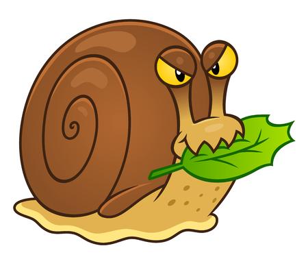 Snail garden pest Illustration