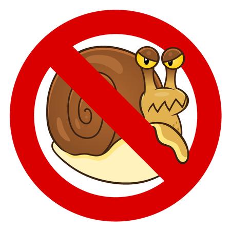 Anti snail sign