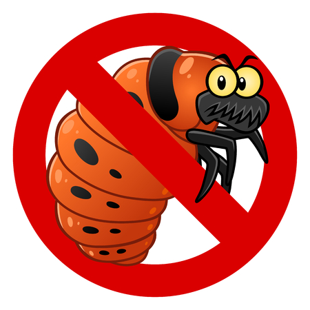 Anti Colorado potato beetle larva sign