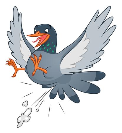 Snide pigeon, vector illustration. Vettoriali