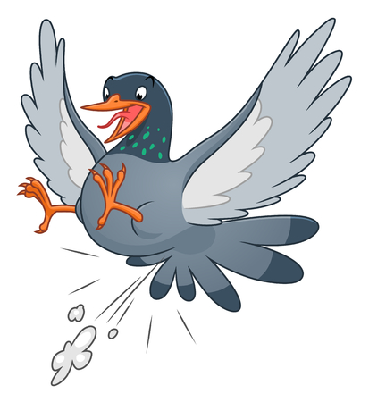 Snide pigeon, vector illustration. Иллюстрация
