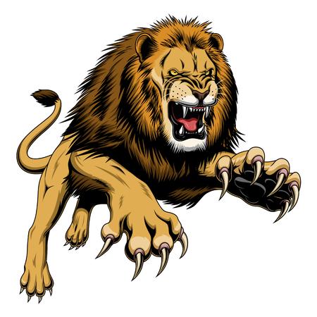 leaping lion  イラスト・ベクター素材
