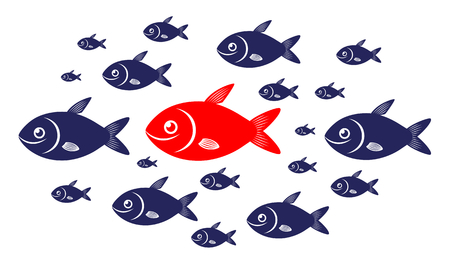 Target audience red fish concept