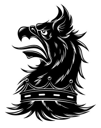 Heraldic griffin head