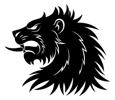 Heraldic lion head simple