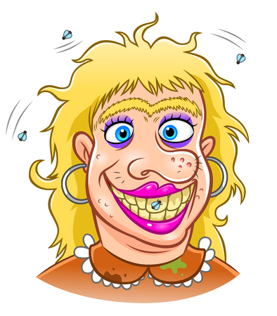 ugly woman Illustration