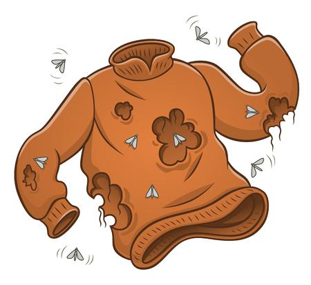 Pullover mit Mottenlöchern Vektorgrafik
