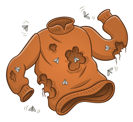 Sweater with moth holes Illustration