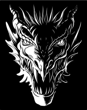 Dragon dans l'obscurité Banque d'images - 82817748