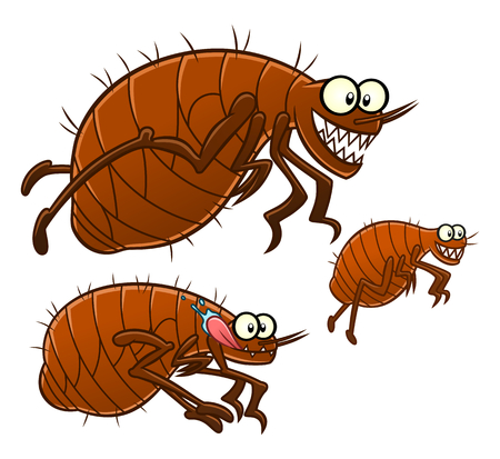 Cartoon fleas