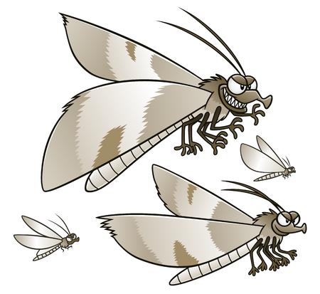 Cartoon moths