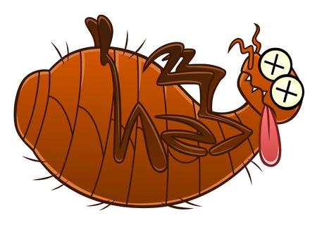 Dead flea Stock Illustratie