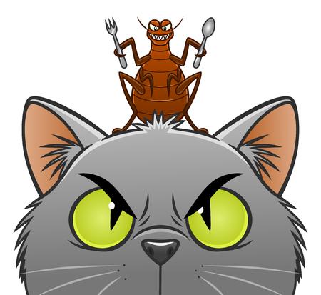 Butcher aller pour manger le chat Banque d'images - 83602485