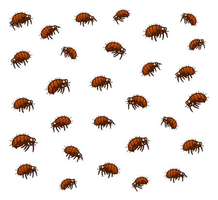 Many fleas