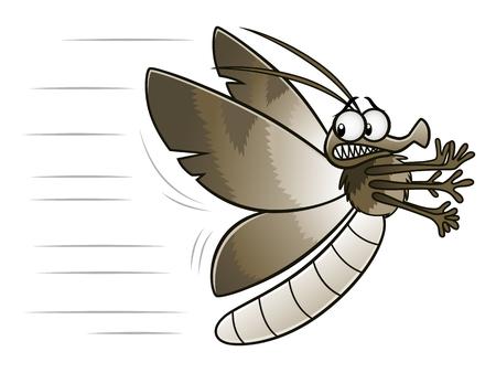 Moth flying away