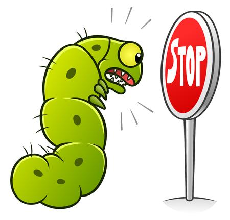 Stop caterpillars Illustration