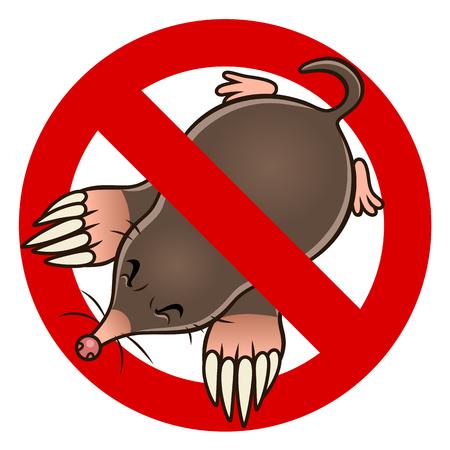 Anti mole sign Ilustracja