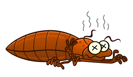 Defeated bedbug Illustration