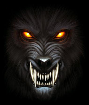 狼の肖像 写真素材