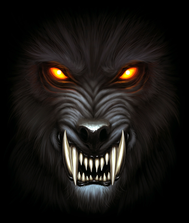 Werewolf portrait Stock Photo