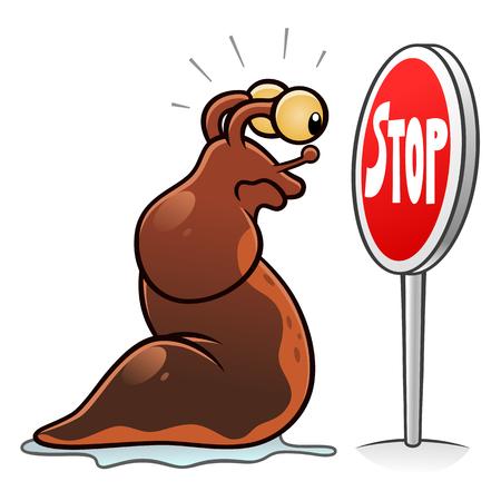 Arrêter le signe des limaces Banque d'images - 84356185