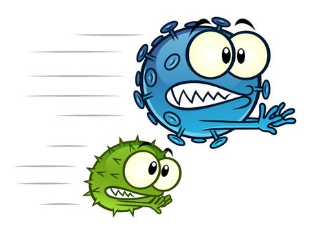 Viruses running away