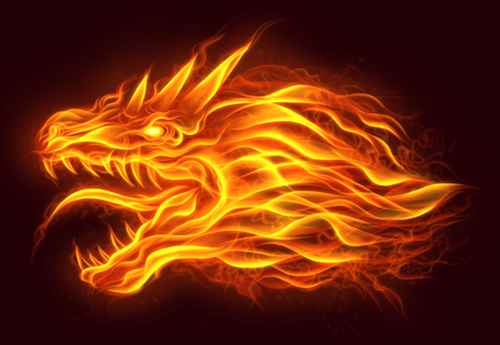 Cabeza de fuego del dragón