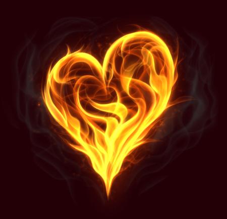 火の心臓 写真素材