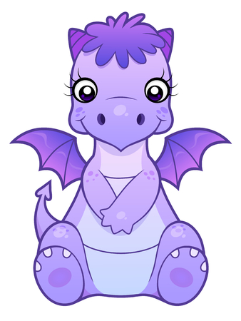 Sitting cute dragon