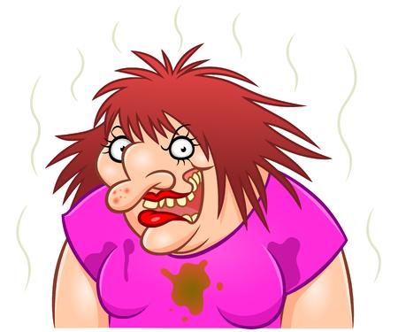 Spooky ugly woman