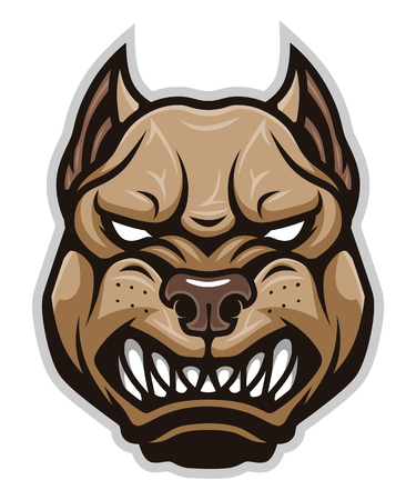 Angry dog ??pitbull head