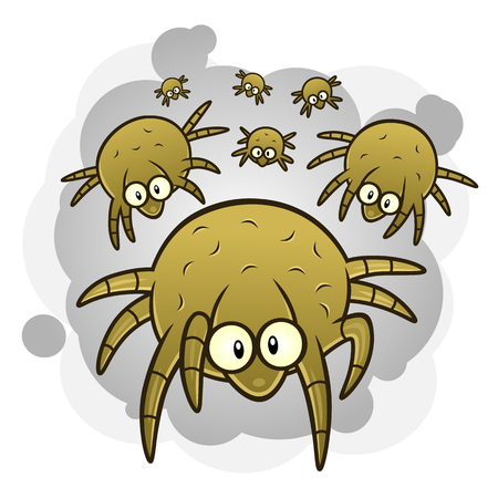 les acariens de poussière