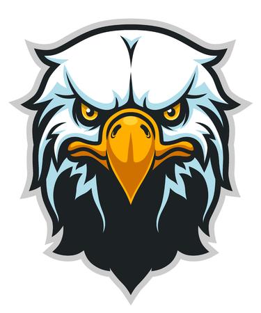Ilustración vectorial de cabeza de águila calva.
