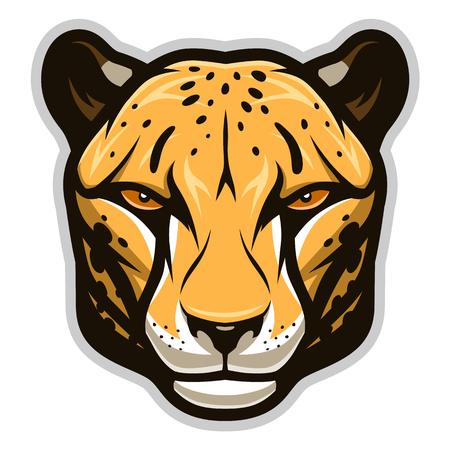 Simple cheetah head