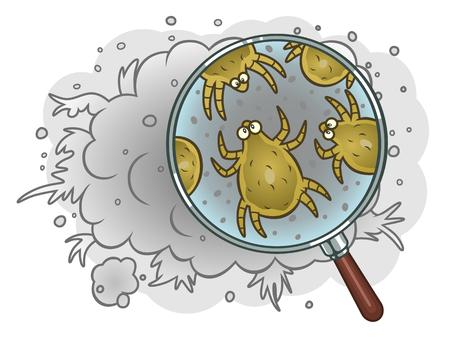 Dust mites in dust