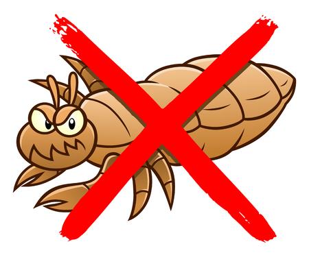 No lice cartoon sign