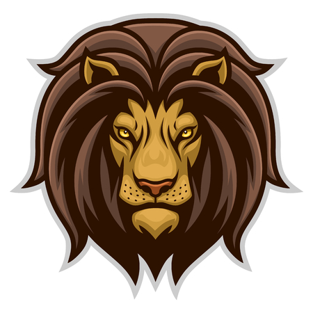 Simple lion head