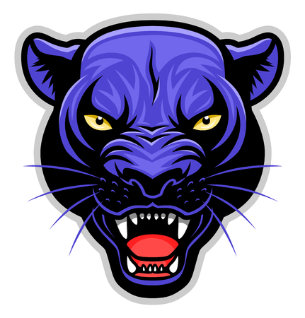 Simple panther head symbol