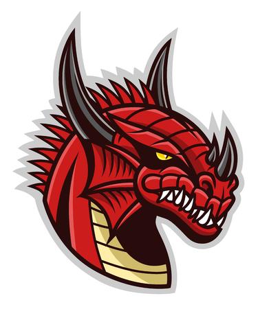 Tête de dragon rouge Banque d'images - 94512196