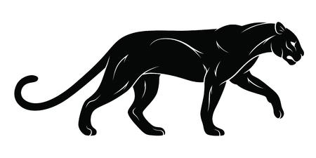 Walking panther vector illustration