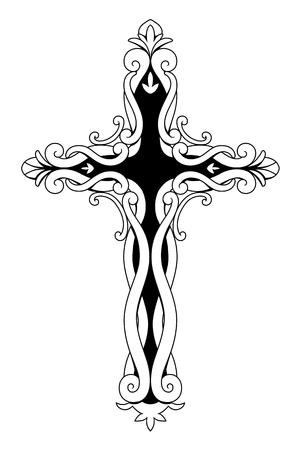 Cruz cristiana ornamental