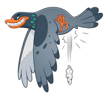 Snide pigeon Ilustrace