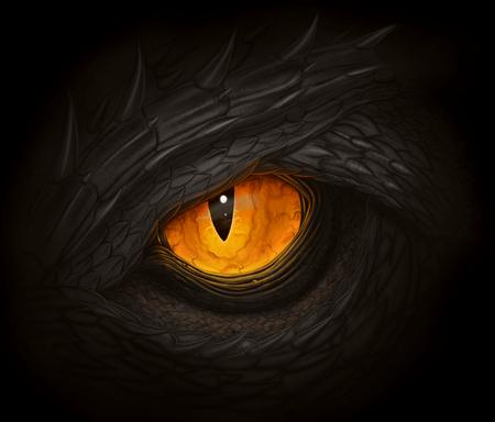 Black dragon eye Banque d'images - 99610442
