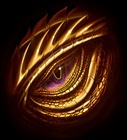 Eye of golden dragon