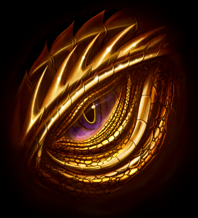 Eye of golden dragon
