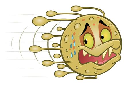 Bang cartoonvirus verdwijnt.